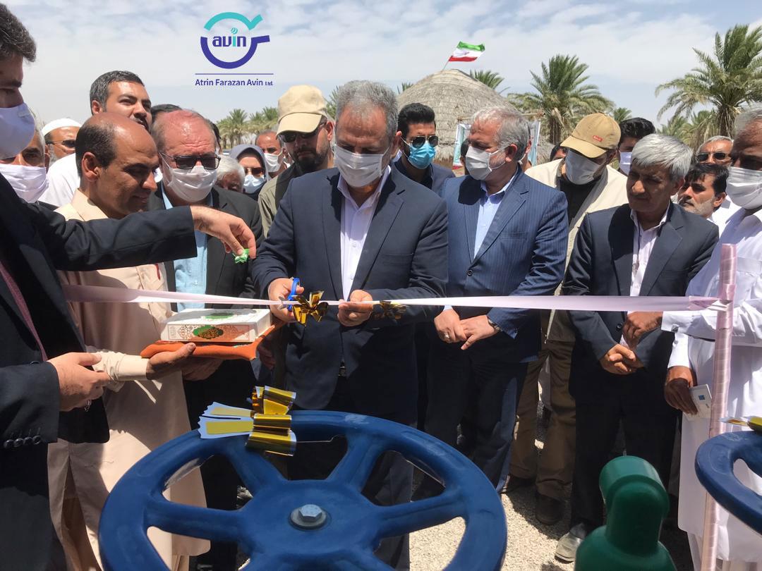 افتتاح۱۳۰۰ هکتار اجرای سیستم آبیاری نوین در شهرستان دلگان